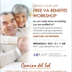 Design Your Life! FREE VA Benefits Workshop – Nov 15