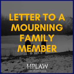 Letter to a Mourning Family Member